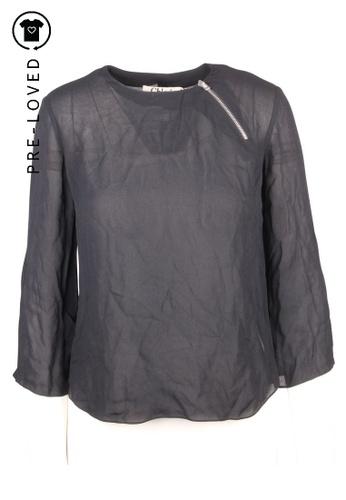 Chloé black Pre-Loved chloé Neck Zipper Long Sleeve Blouse F97C3AAEB1E366GS_1