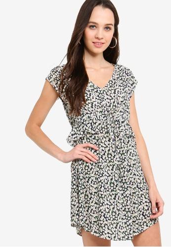 Something Borrowed navy Peplum Waisted Tie Dress 26D5BAAD730959GS_1