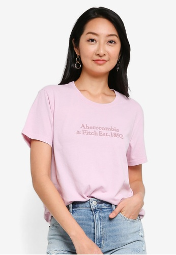 ABERCROMBIE & FITCH pink Relaxed Embroidered Logo Tee 6FC08AA8662A0FGS_1