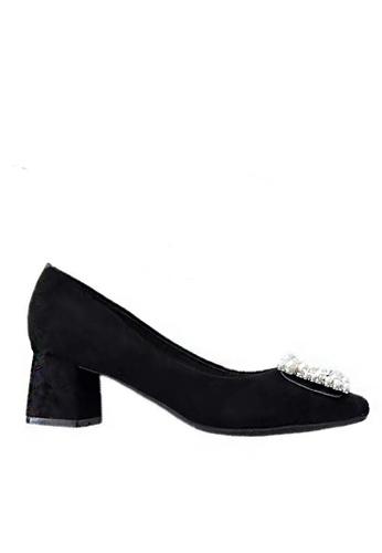 Twenty Eight Shoes 方頭珍珠扣絨面高踭鞋1270-12 50782SH05DC771GS_1