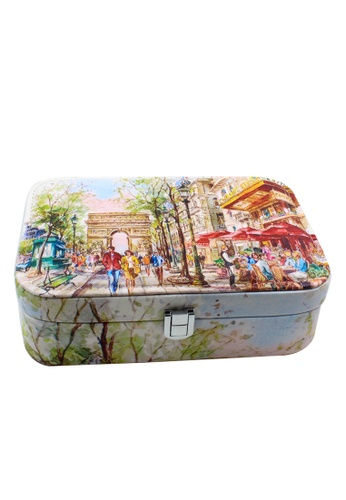 Venice Jewelry blue Fashionable Printed Jewelry box JBPS-LP-08 VE564AC87SQEPH_1