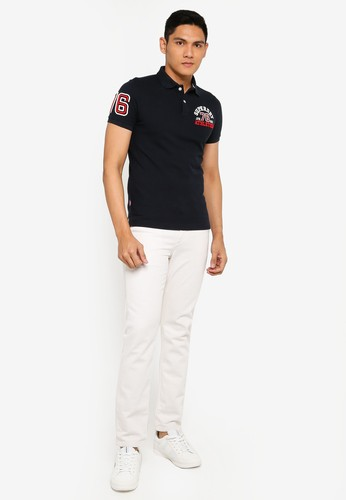 Superdry navy Classic Superstate Polo Shirt - Original & Vintage EA4C8AA91D0E86GS_1