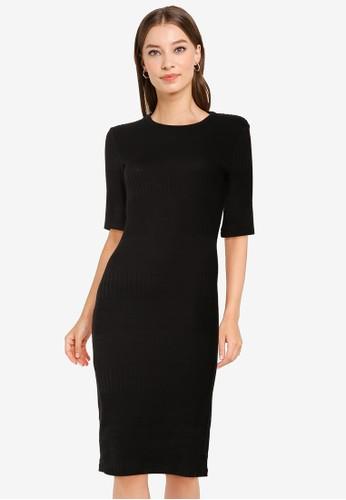 Superdry black NYC Multi Rib T-Shirt Dress 656E5AAEBC890BGS_1