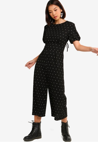7ae282f3d6cc Something Borrowed black Open Back Puff Sleeves Jumpsuit 1CEABAA6C66FA0GS 1