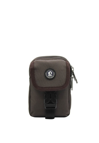 OPTIONS brown Cole Double Zip Phone Pouch 5FCDAACD40EA6CGS_1