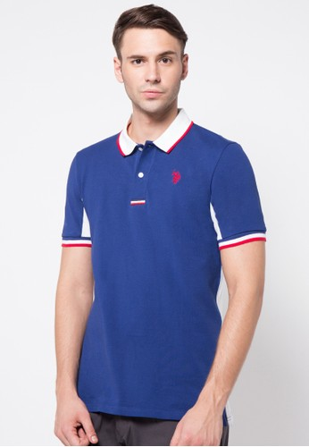 Colorblock Polo Shirt With Side Panels
