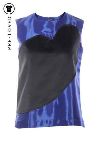 Risto black Pre-Loved risto Bi Textured Sleeveless Top 71559AA8190100GS_1