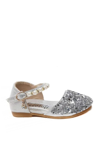 Twenty Eight Shoes 銀色 VANSA  亮片珍珠平底鞋  VSK-F777 ECE77KS75FE815GS_1