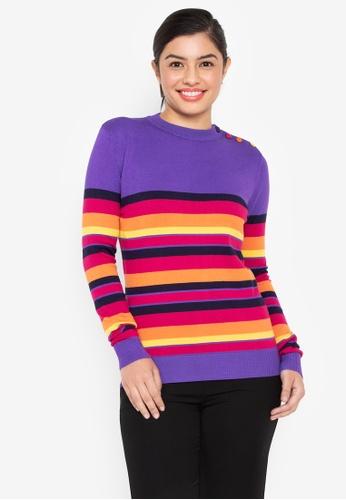 Wear Kris purple Kaleidoscope Round Neck Sweater 5AA65AA83ECE2FGS_1