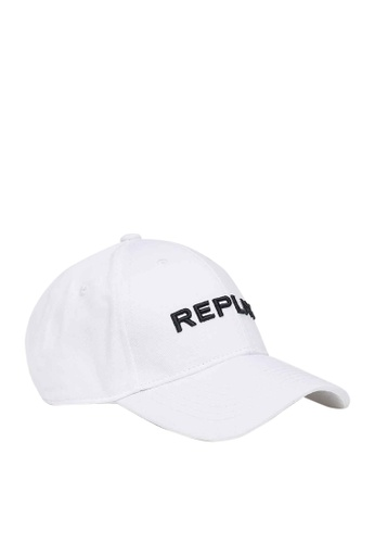 REPLAY white REPLAY CAP WITH BILL IN COTTON 1D696AC68536E3GS_1