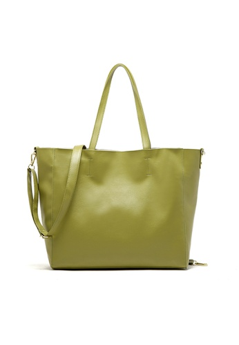 LULUGIFT green Fruit Fun US Branded PU Leather Tote Bag LU989AC40LYPMY_1
