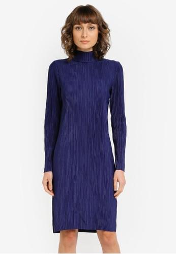 Vero Moda blue Plis Loose Plisse Dress VE975AA0SKQTMY_1