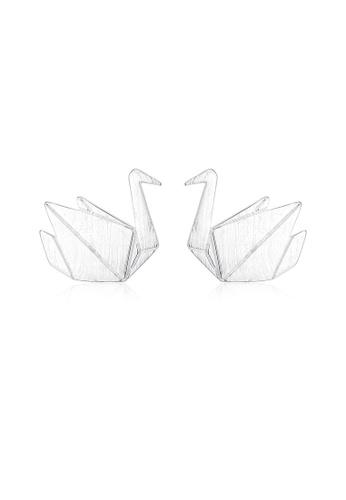SUNRAIS silver High quality Silver S925 silver paper crane earrings FFB6EAC39A2398GS_1