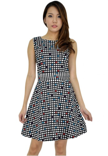 MOONRIVER black Carrie Trendy Polka Dots Dress MO886AA05UTASG_1