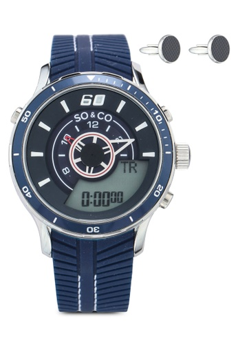 SO&CO blue and silver Monticello set_5035.2_CF Watch Set 36357ACDCBFDDAGS_1