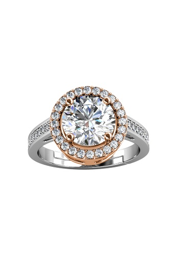 Her Jewellery silver CELÈSTA Moissanite - Fantaisie Ring (925 Silver with 18K White Gold Plating) by Her Jewellery 14474AC94FFB06GS_1