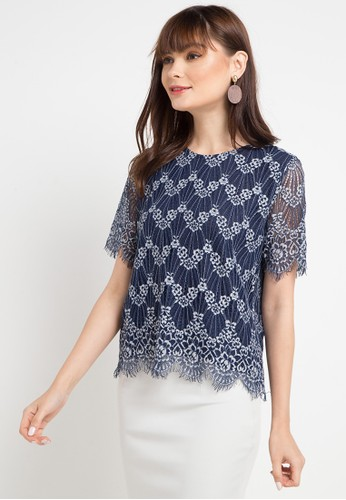 Chic Simple multi and navy S/S Lace Blouse B749AAA8371FDDGS_1