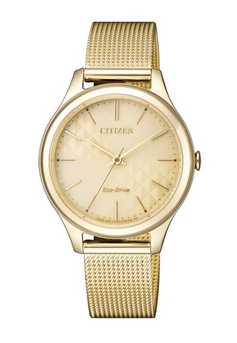 CITIZEN gold Citizen Eco-Drive Gold Stainless Steel Mesh Watch 40695ACE784EACGS_1