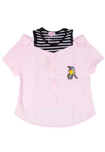 Moejoe pink MOEJOE Bird Shirt Variasi - Pink B02DBKA01FFAC0GS_1