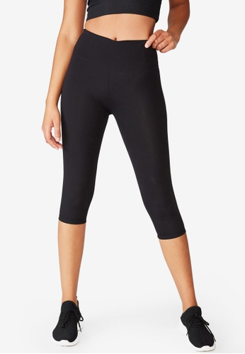 Cotton On Body black Active Core Capri Tights ACCA4AACD9CD75GS_1