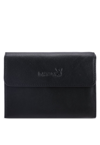 Playboy black Playboy RFID Blocking Card Holder FF9A4AC52E5EBFGS_1