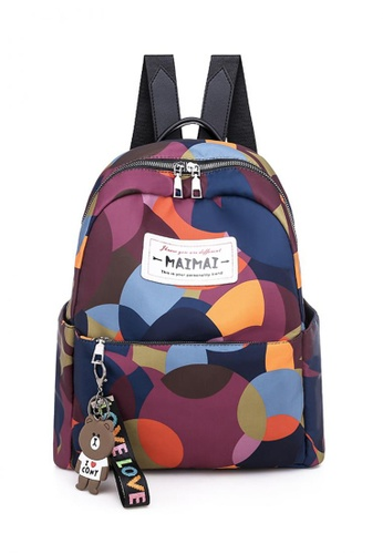Lucky JX black Marga Keychained Front Pocket Adjustable Strapped Backpack D60FBAC9EEA67CGS_1