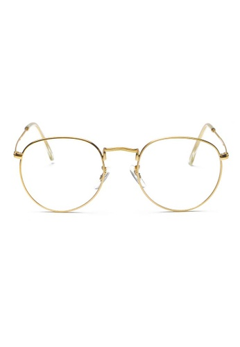 Kyfer's Eyewear & Essentials gold Semi Round Metal Eyewear KY376AC47RBCSG_1