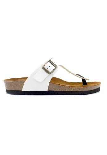 SoleSimple 白色 Berlin - 白色 百搭/搭帶 軟木涼鞋 23FFDSH6D51D89GS_1