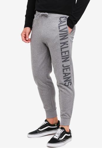 Calvin Klein 灰色 Logo Sweatpants - Calvin Klein Jeans 8365FAA9EC6E81GS_1