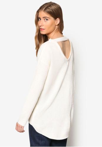 露背esprit門市寬版羅紋長袖衫, 服飾, 外套