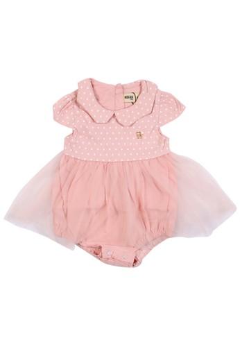 Moejoe pink MOEJOE Peterpan Collar Baby Jumper - Pink 5727EKA21C0768GS_1