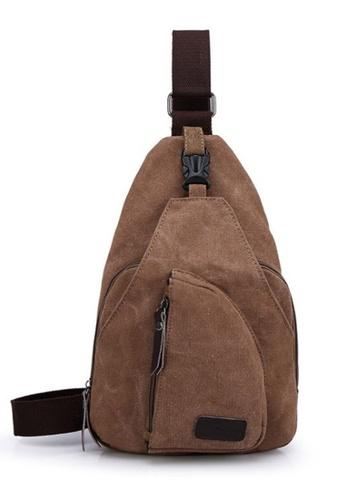 Jackbox brown XBD Canvas Bag Sling Shoulder Messenger Bag B027 JA762AC93MZEMY_1