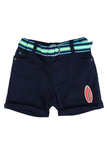 DU PAREIL AU MÊME (DPAM) blue Aquamarine Shorts With Belt 4E14DKA87B2F92GS_1