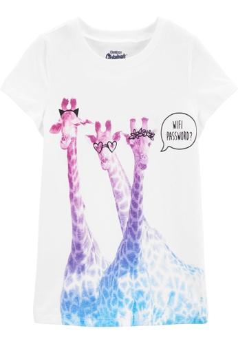 Oshkosh B'gosh white OSH KOSH Girl White Giraffe Graphic Tee 627ADKA845BC77GS_1
