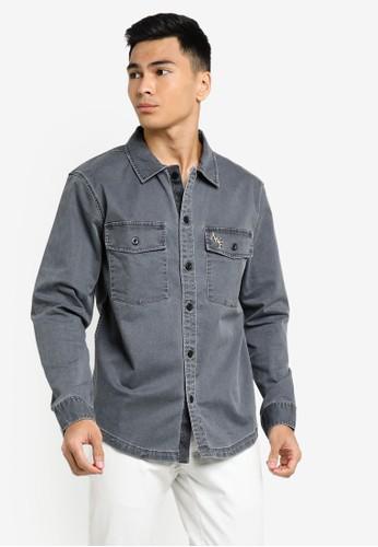 Abercrombie & Fitch black Shirt Jacket 24DE4AA7A4B80CGS_1
