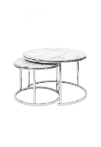 Choice Furniture silver Choice Furniture - Cora Coffee Table C2056HL255A1ABGS_1