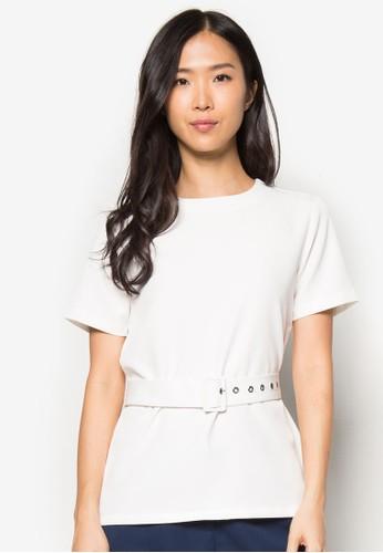 基本款腰帶短袖上衣, zalora 衣服評價服飾, 上衣
