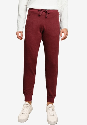 Electro Denim Lab red Slim Terry Joggers AF4CAAA5B1E7D9GS_1