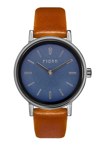 Fjord orange Fjord Women's Genuine Leather Watch - FJ-6045-02 1F69BAC42426DEGS_1
