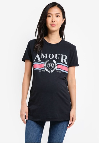 TOPSHOP black Maternity Amour T-Shirt TO412AA0SRSVMY_1