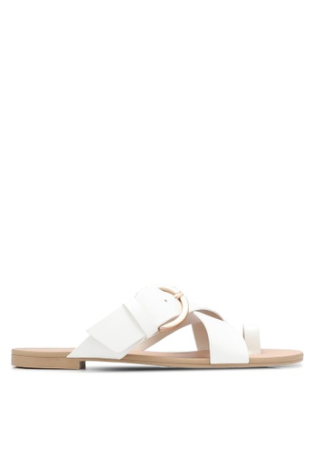 ZALORA white Buckle And Loop Sandals DF751SHA94370BGS_1