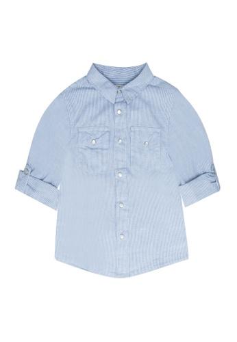 FOX Kids & Baby blue Long Sleeve Shirt 7B724KA2B34D8CGS_1
