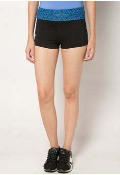 Meisou Yoga Shorts with Fold Over Waistband