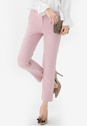 YOCO pink Tailored Trousers 1B0FEAA25A4E15GS_1