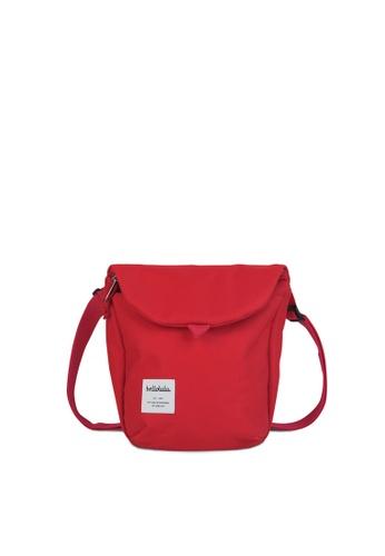 Hellolulu red Desi - All Day Sling Bag B7ED9AC6473C15GS_1