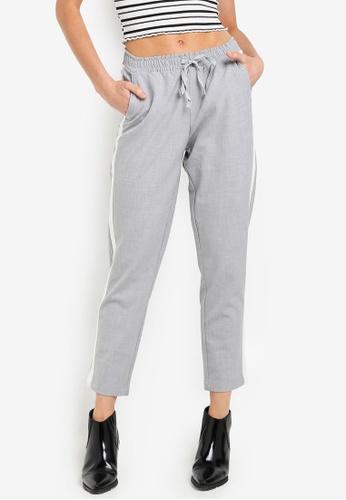 LC Waikiki grey Striped Viscose Carrot Trousers 53289AA9A8F1FAGS_1
