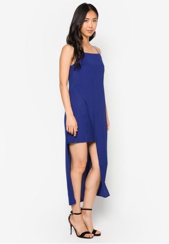 不對稱裹飾連zalora 心得身長裙, 服飾, 洋裝