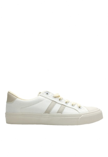 Twenty Eight Shoes beige Canvas Two Side Stripes Sneakers VCF183 291C8SHC88E9BEGS_1