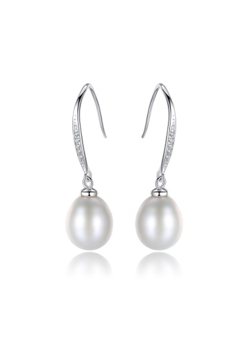 A.Excellence white Premium White Pearl Elegant Earring 80786ACA1505F2GS_1