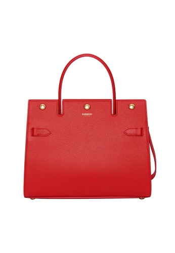Burberry red Burberry Small Title Shoulder Bag in Bright Red 819F9AC343517CGS_1